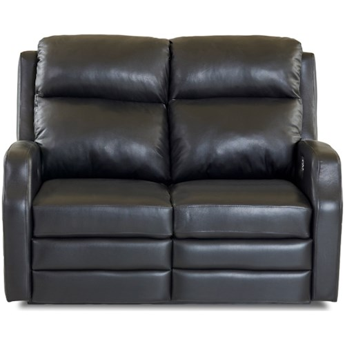 Klaussner Kamiah Power Reclining Loveseat with USB Charging Ports and Power Headrests