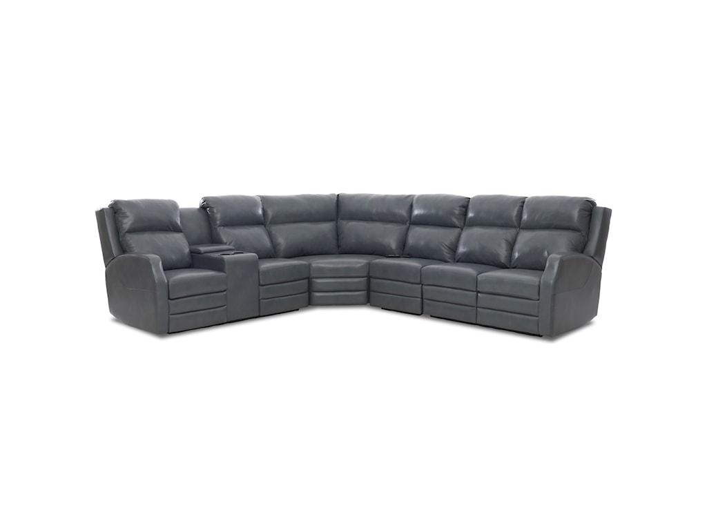 Elliston Place Kamiah4 Seat Reclining Sectional Sofa