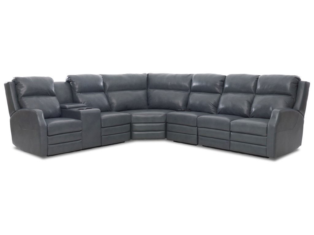 Klaussner Kamiah4 Seat Power Reclining Sectional Sofa