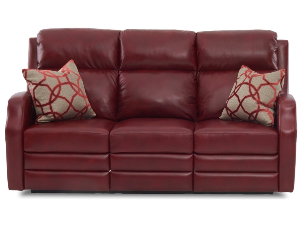 Klaussner KamiahPower Reclining Sofa w/ Pillows