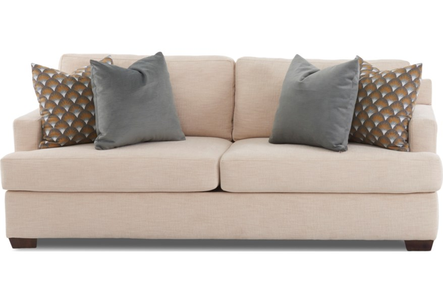 Contemporary 2-Seat Sofa with Air Coil Sleeper Mattress