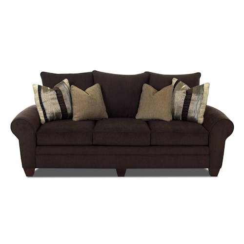 Klaussner Kazler Luxurious Pillow Back Sofa