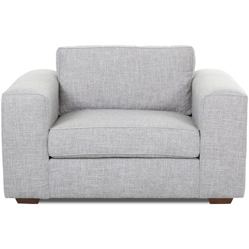 Klaussner Kearns Contemporary Big Chair with Down-Blend Cushions