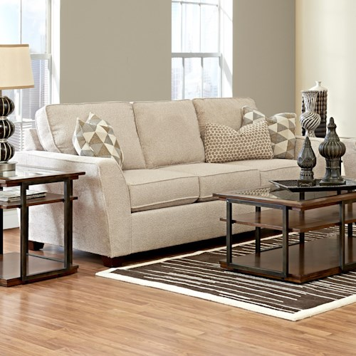 Klaussner Kent Casual Sleeper Sofa with Flared Arms