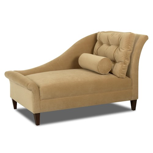 Klaussner chairs and accents lincoln accent chaise lounger for Accent chaise lounge
