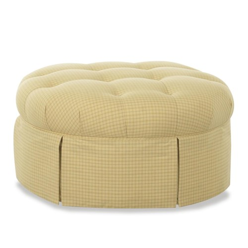 Klaussner Chairs and Accents Jessica Skirted Accent Ottoman