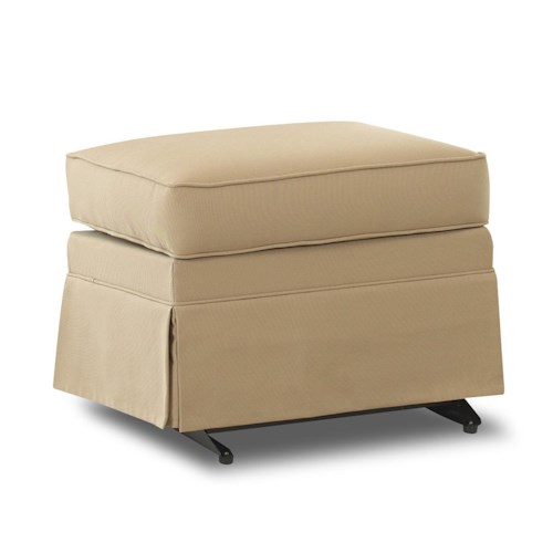 Klaussner Chairs and Accents Carolina Skirted Gliding Ottoman