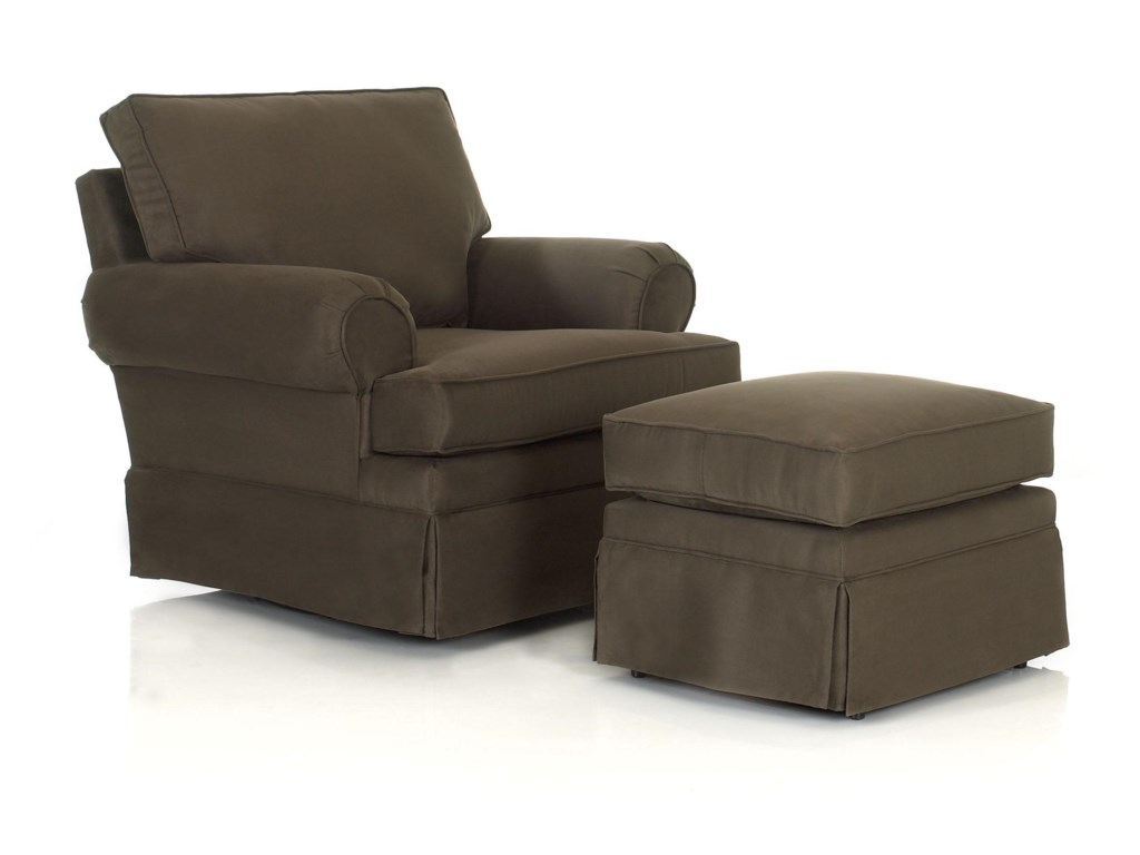 Klaussner Chairs and AccentsCarolina Chair and Ottoman