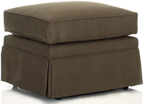 Klaussner Chairs and Accents Carolina Rectangular Ottoman