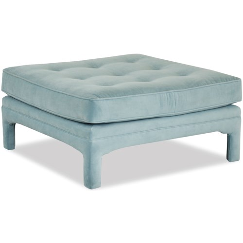 Klaussner Chairs and Accents Malone Tufted Cocktail Ottoman