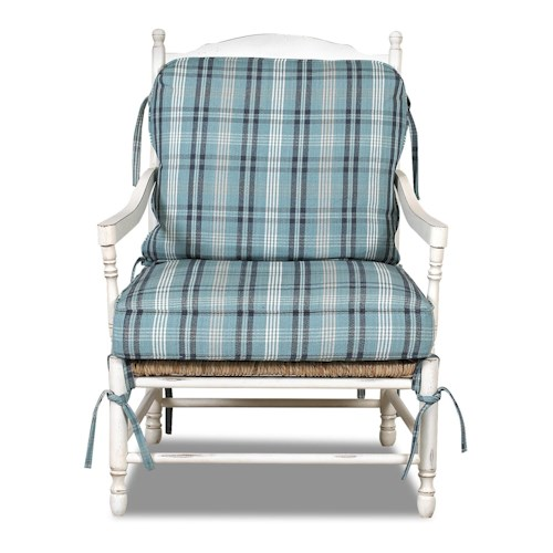 Klaussner Chairs and Accents Homespun Accent Chair with Exposed Wood