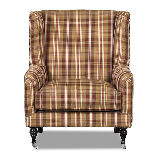 Klaussner Chairs and Accents Edenton Wingback Accent Chair