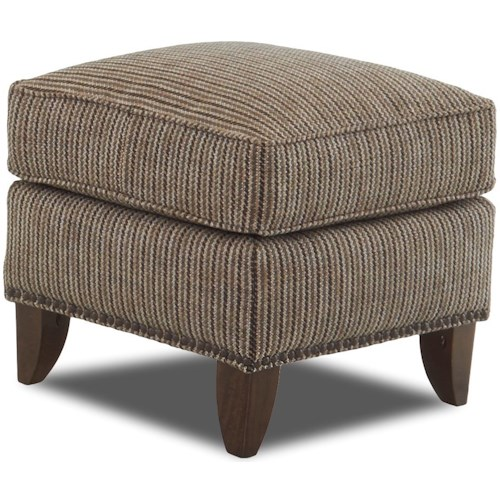 Klaussner Chairs and Accents Lexington Avenue Ottoman with Nailheads