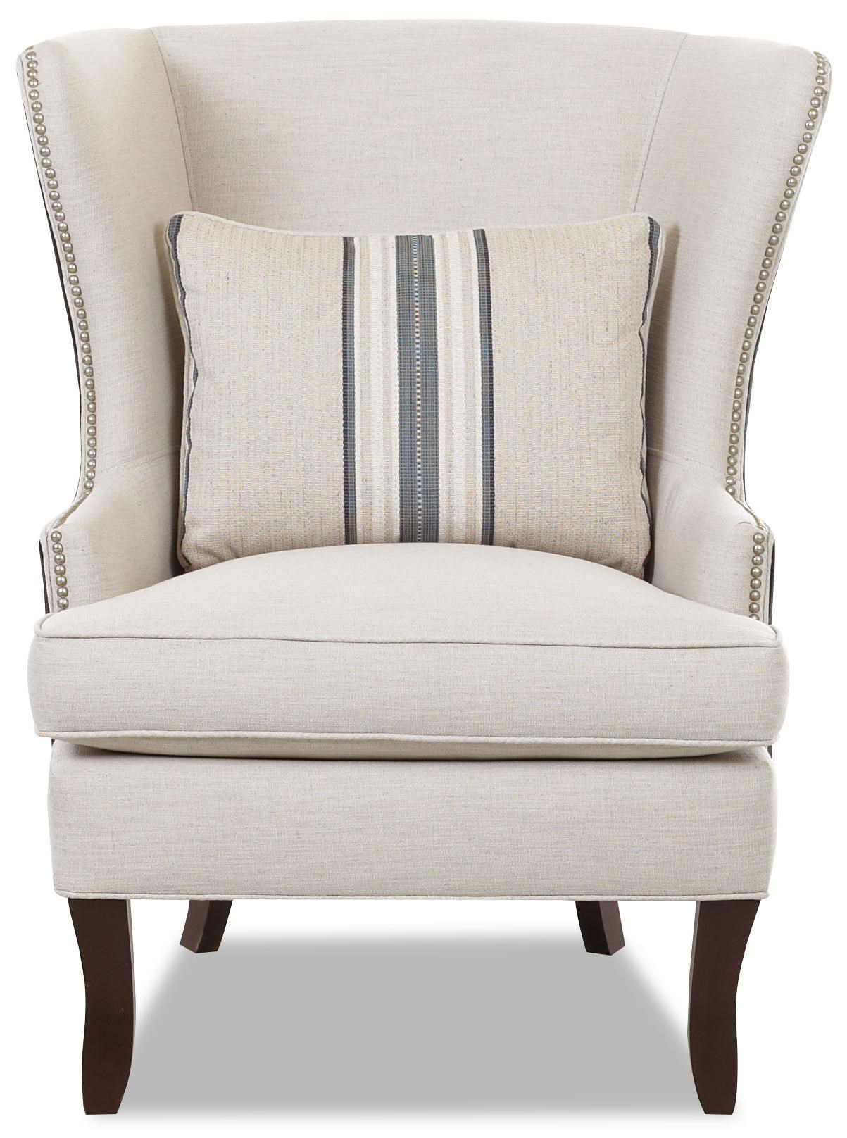klaussner chairs and accents d9410 c transitional krauss wing chair rh dunkandbright com klaussner chair reviews klaussner chair fabrics