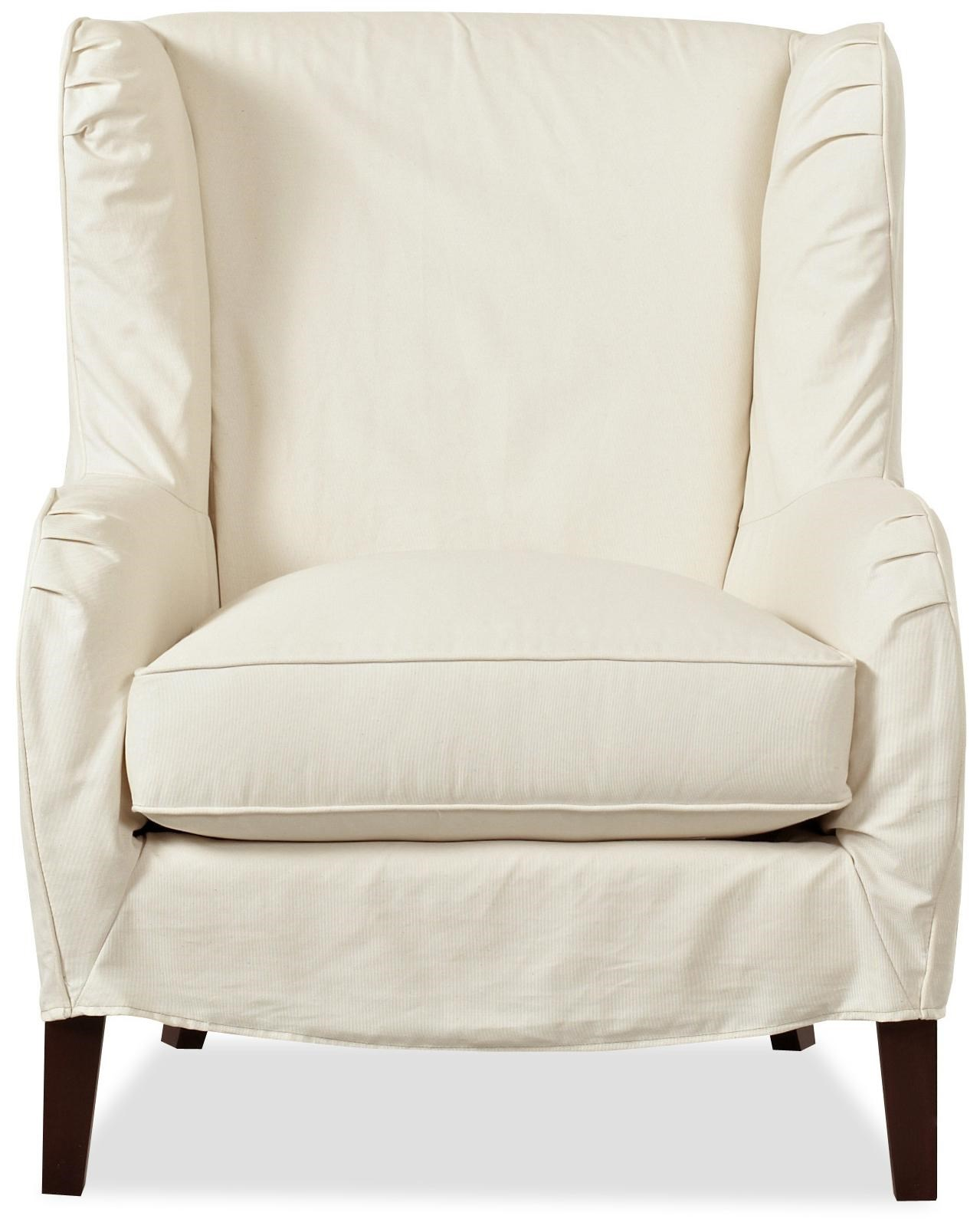 Elegant Klaussner Chairs And Accents Polo Transitional Slipcover Wing Chair