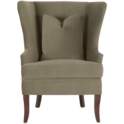 Klaussner Chairs and Accents Serenity Wing Chair with Down Blend Cushions