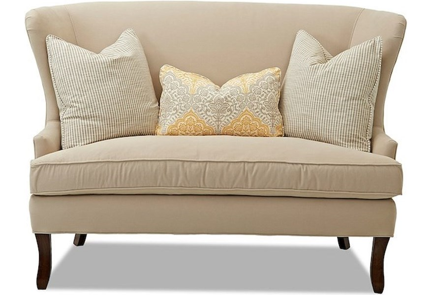 Klaussner Chairs And Accents Serenity Wing Back Settee Suburban Furniture Settees