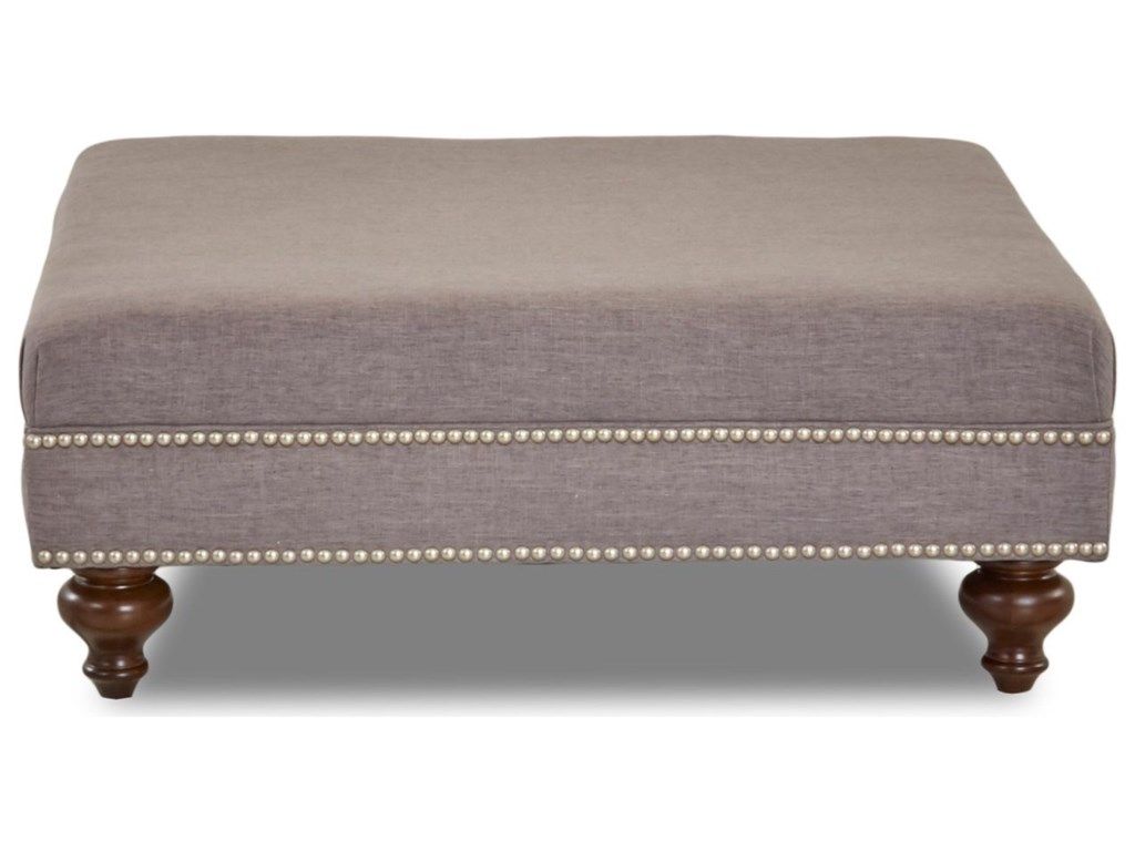 Klaussner Chairs and AccentsLyle Ottoman with Nailhead Trim