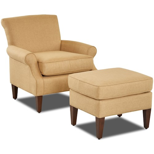 Klaussner Chairs and Accents Chair & Ottoman Set