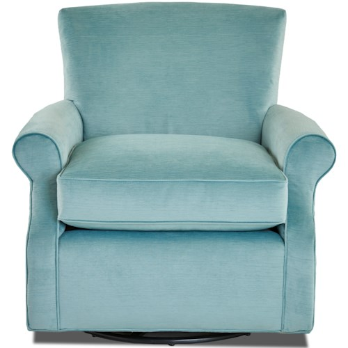 Klaussner Chairs and Accents Casual Swivel Glider Chair
