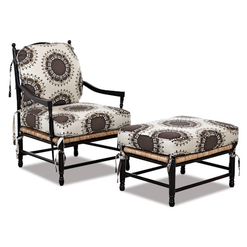 Klaussner Chairs and Accents Verano Casual Occasional Chair and Ottoman Set