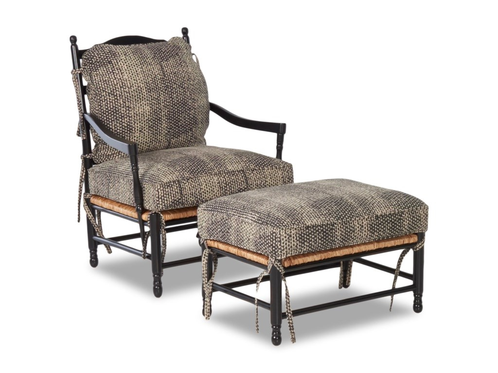 Klaussner Chairs and AccentsHomespun Accent Chair and Ottoman Set