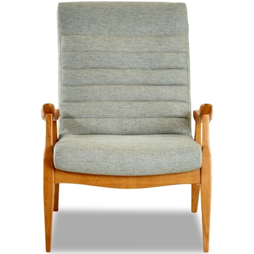 Klaussner Chairs and Accents Hans Mid-Century Modern Chair with Scandinavian Style Exposed Wood