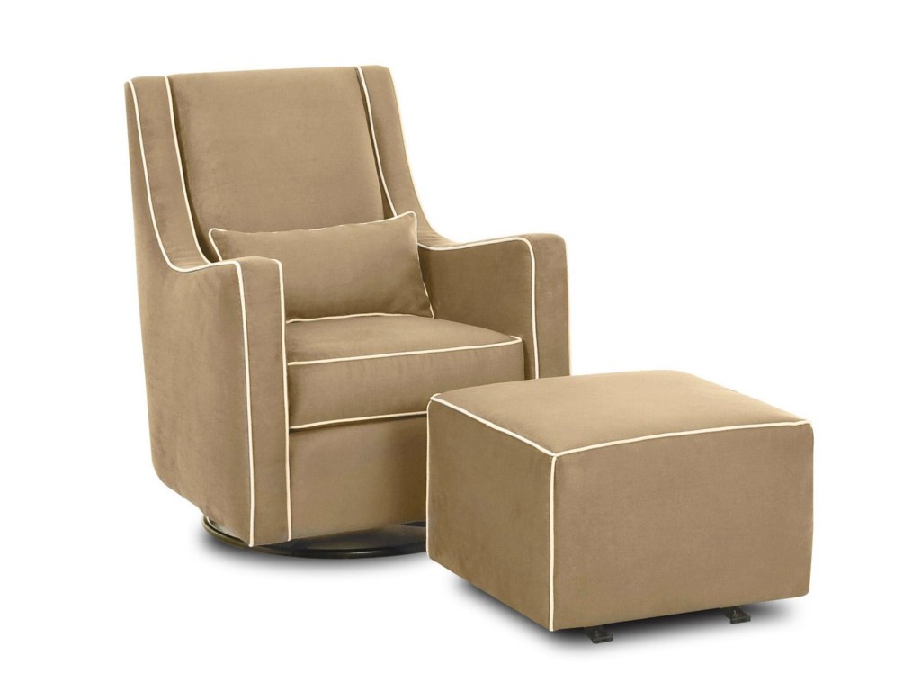 Klaussner Chairs and AccentsLacey Gliding Chair and Gliding Ottoman