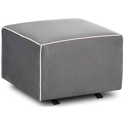 Klaussner Chairs and Accents Contemporary Lacey Gliding Ottoman