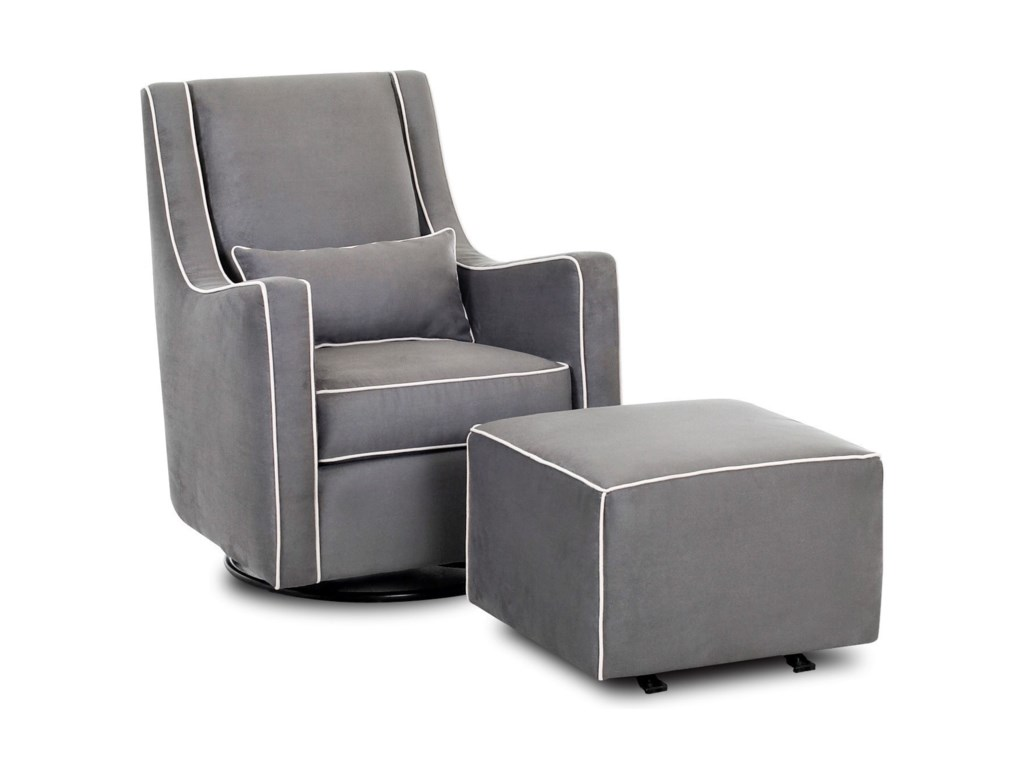 Klaussner Chairs and AccentsLacey Swivel Gliding Chair and Ottoman