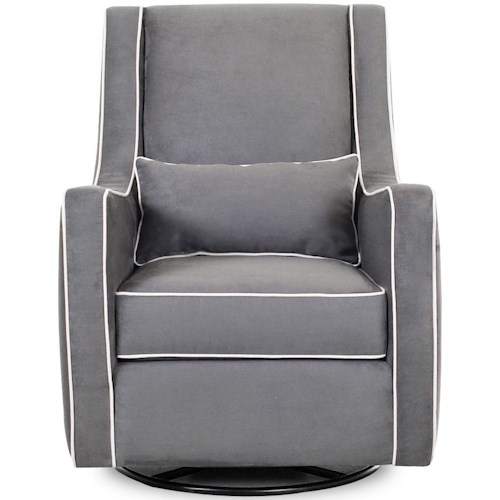 Klaussner Chairs and Accents Contemporary Lacey Swivel Glider Chair