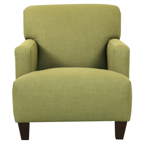 Klaussner Chairs and Accents Tanner Modern Track Arm Chair with Expansive Seat Cushion