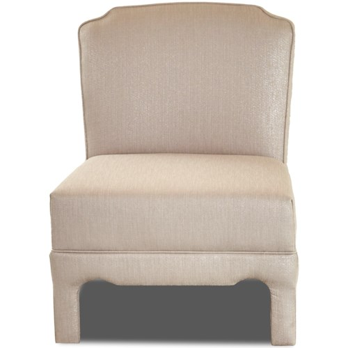 Klaussner Chairs and Accents Armless Upholstered Chair