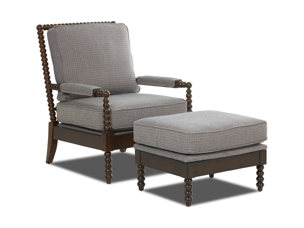 Klaussner Chairs and AccentsRocco Chair and Ottoman