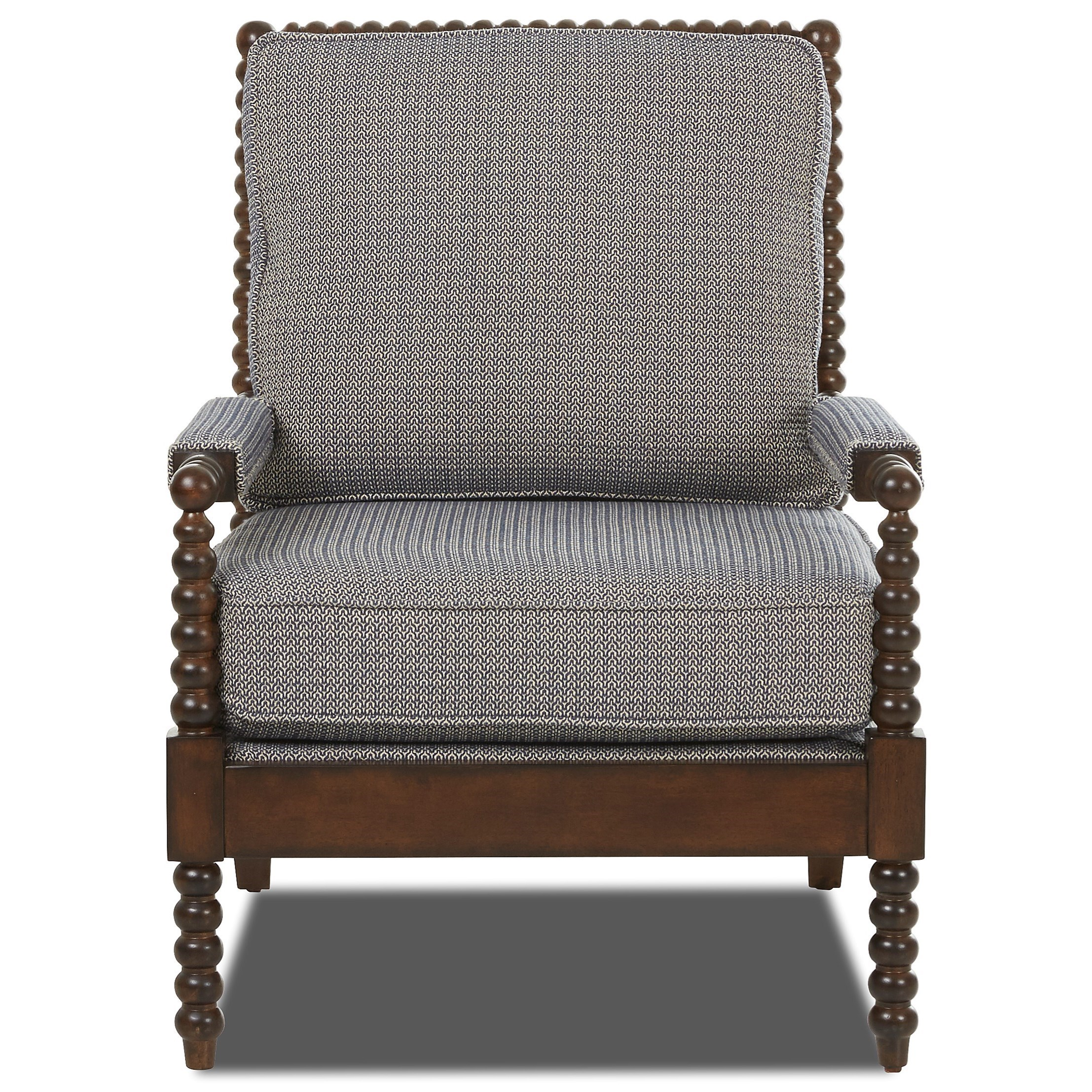Chairs And Accents Rocco Accent Chair With Spool Turned Legs And Arms By  Klaussner
