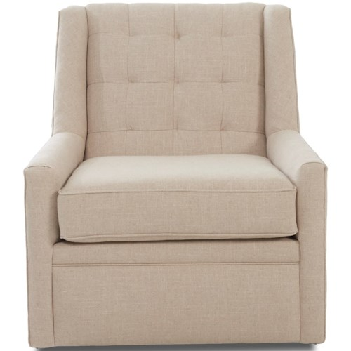 Klaussner Chairs and Accents Midtown Swivel Accent Chair with Glider Base