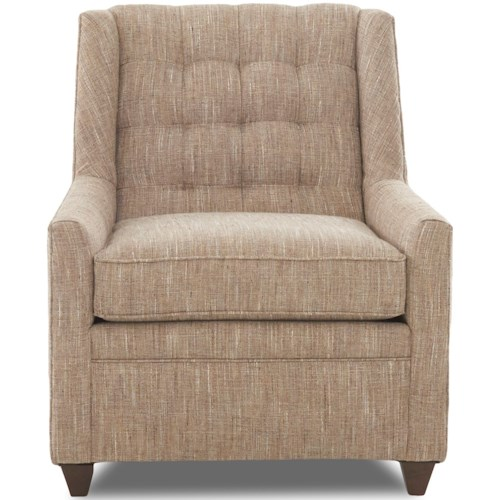Klaussner Chairs and Accents Midtown Accent Chair with Tufted Back