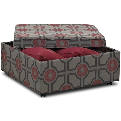 Klaussner Chairs and Accents Stella Cocktail Ottoman
