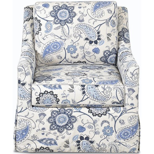 Klaussner Chairs and Accents Leah Swivel Accent Chair