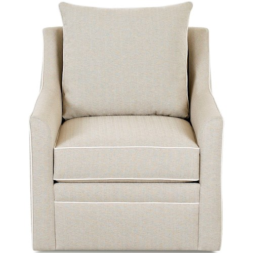 Klaussner Chairs and Accents Larkin Occasional Swivel Chair