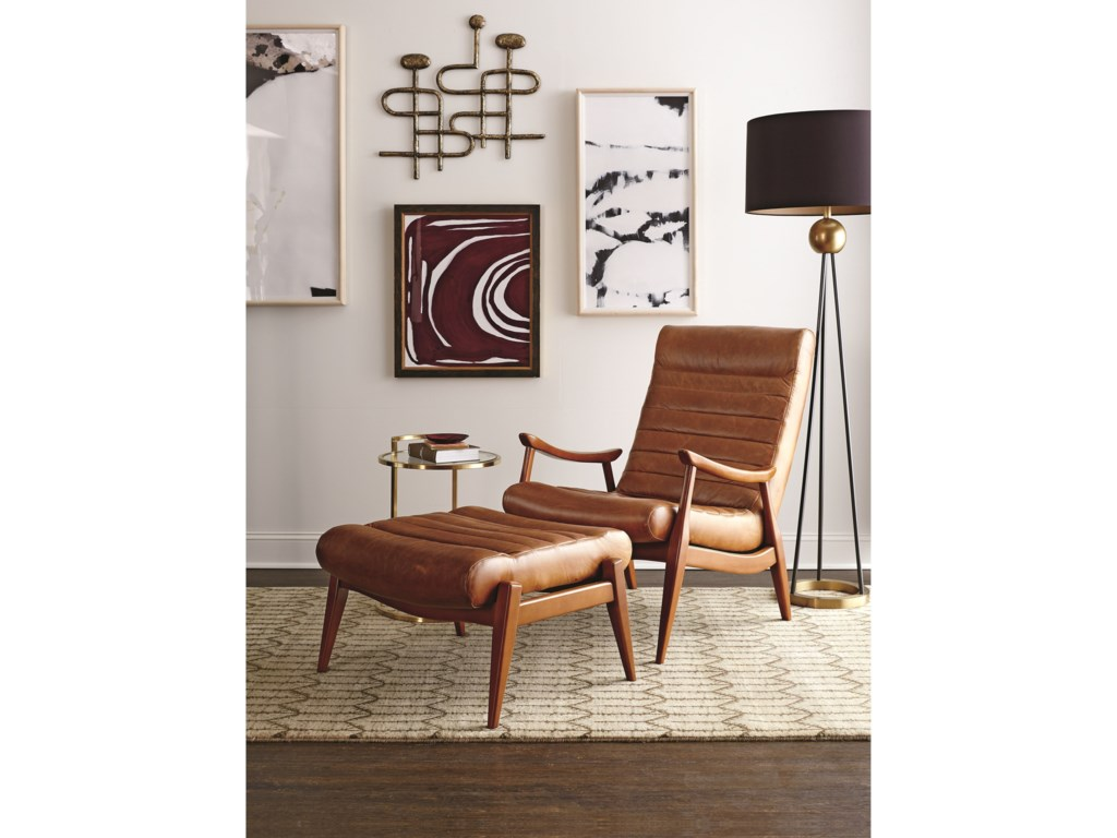 Klaussner Chairs And Accents Hans Mid Century Modern Chair And