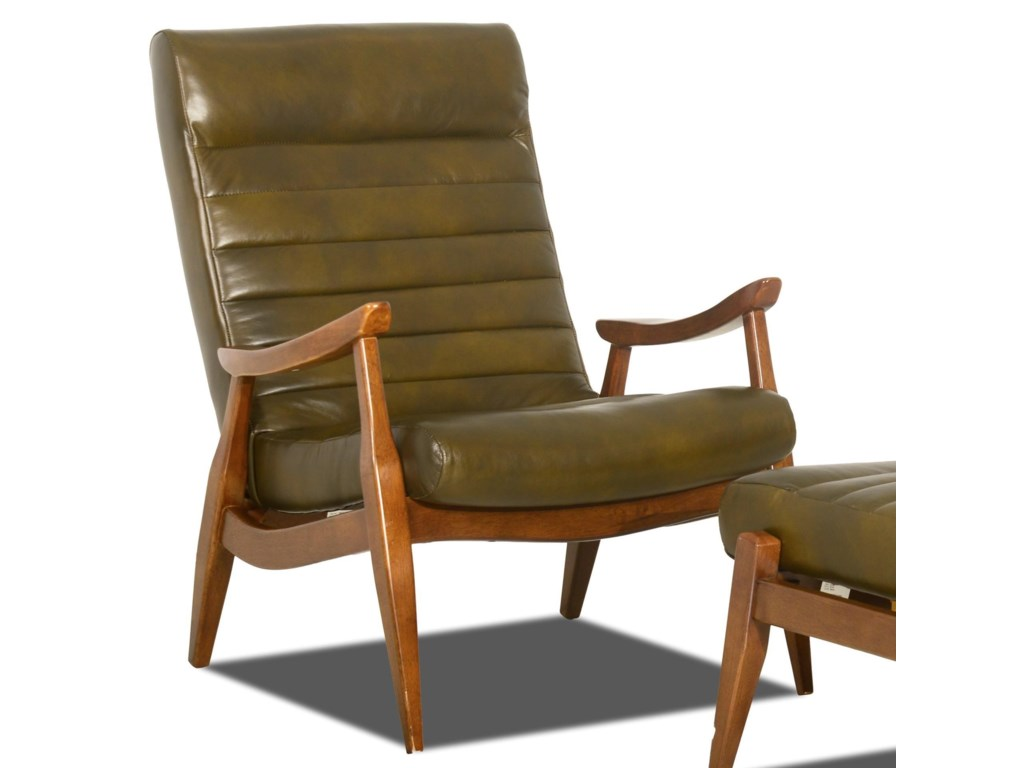 Klaussner Chairs And Accents Hans Mid Century Modern Chair With