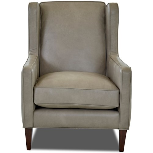 Klaussner Chairs and Accents Caleb Winged Accent Chair