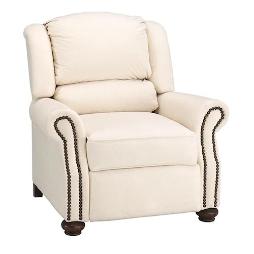 Klaussner High Leg Recliners Juliet Pub Back Reclining Chair