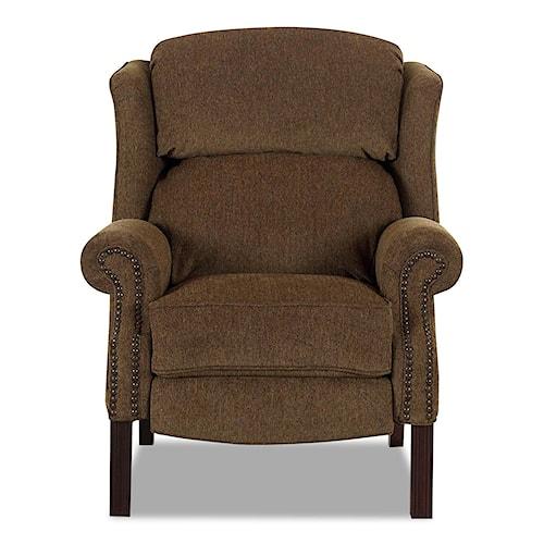 Klaussner High Leg Recliners Greenbrier High Leg Reclining Chair