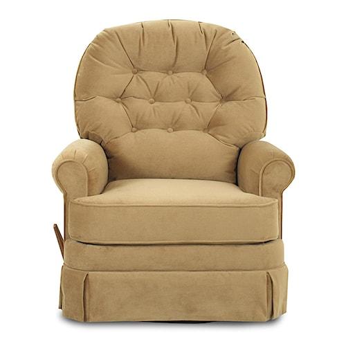 Klaussner Recliners Ferdinand Swivel Glide Reclining Chair