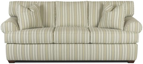 Klaussner Lady Sofa with Rolled Arms