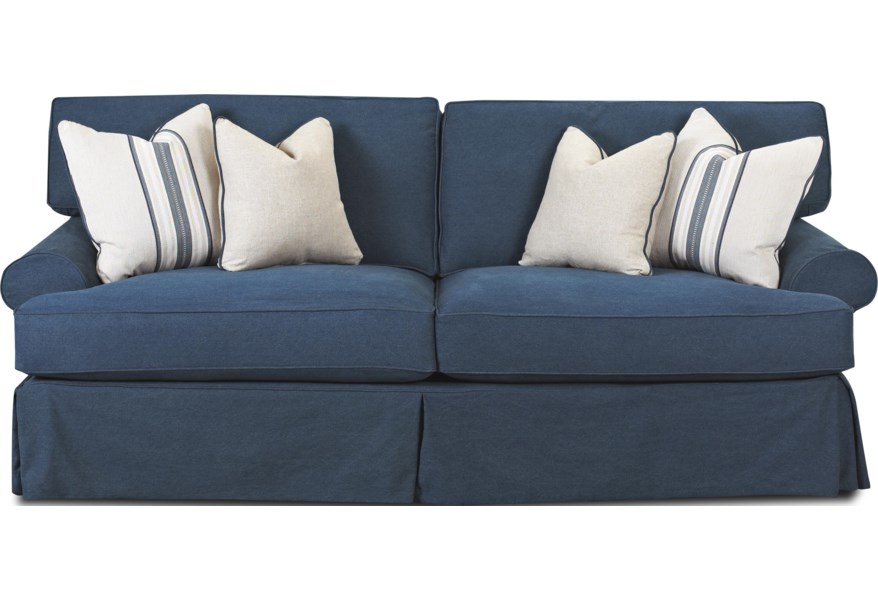 Lahoya Sofa With Blend Down Cushions By Klaussner At Dunk Bright Furniture