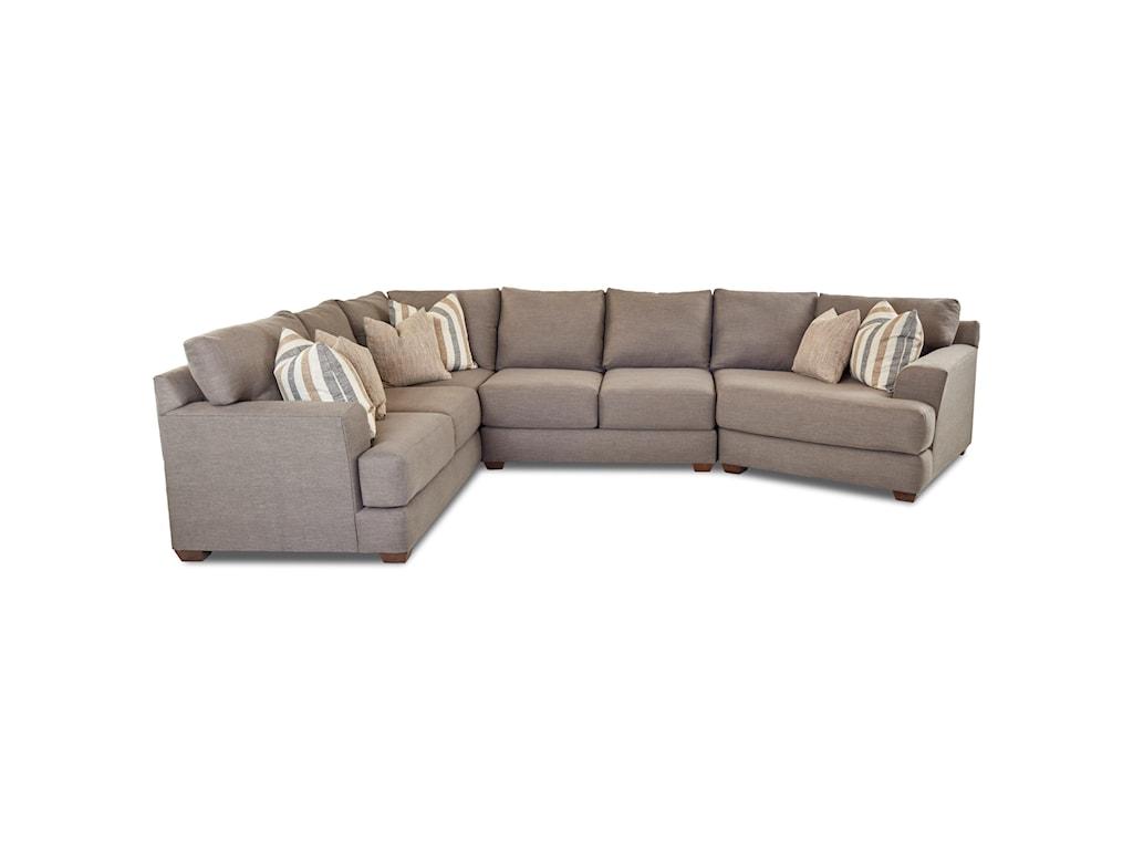 Klaussner LambertThree Piece Sectional Sofa