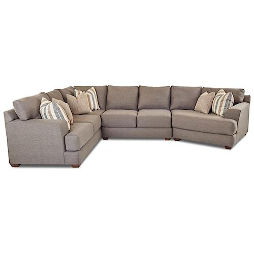 Klaussner Lambert Three Piece Sectional Sofa